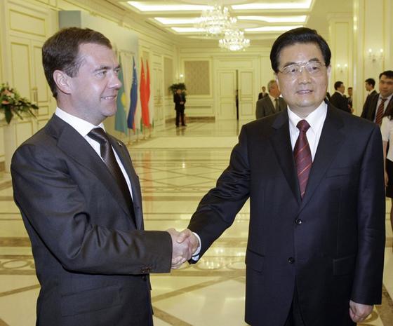 Медведев и Ху Цзиньтао