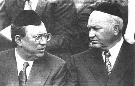 Владимир Гусинский и Юрий Лужков