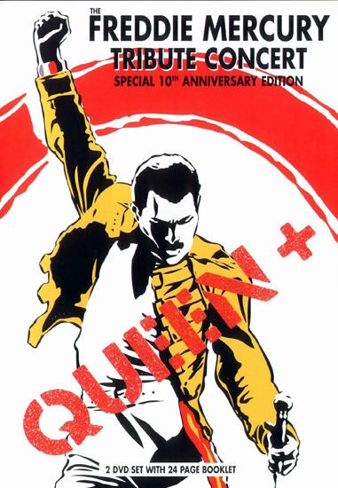 The Freddie Mercury Tribute Concert, обложка DVD-диска, выпущенного после концерта и проданного многомиллиоными тиражами