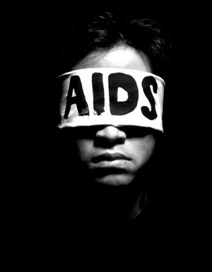 СПИД ослепляет.