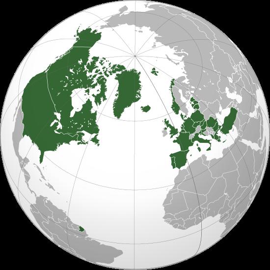 Карта стран членов НАТО
