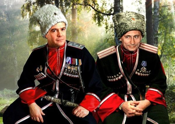 Медведев и Путин. Картина есаула А.П. Ляха