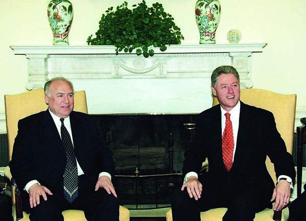 Черномырдин и Клинтон