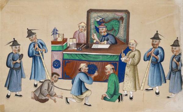 Ведение судебного разбирательства в Китае. 1850 год