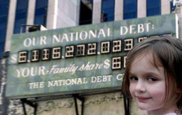 Это знаменитый экран, где виден гос.долг США