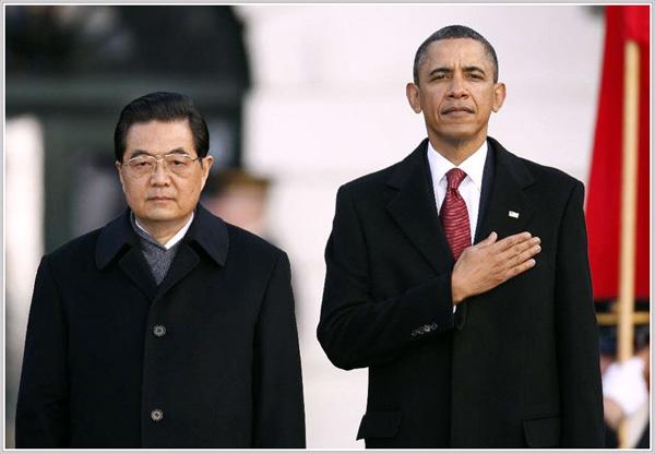Председатель КНР Ху Цзиньтао и президент США Барак Обама