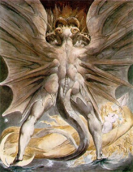 Уильям Блейк. Великий дракон и женщина, одетая солнцем