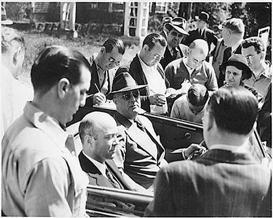 Уильям Буллит в машине президента Франклина Рузвельта