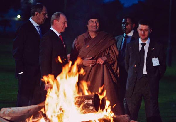 Путин, Каддафи, Лавров