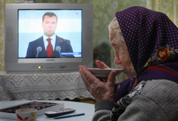 Дмитрий Медведев в телевизоре