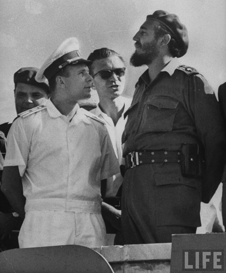 Гагарин и Кастро