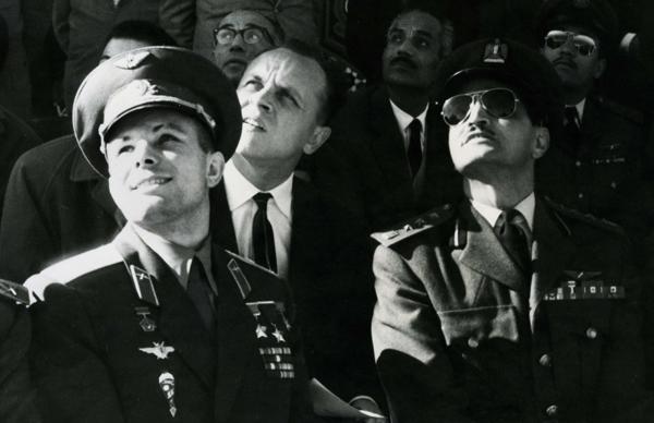 Гагарин на авиапараде в Египте