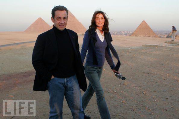 Карла Бруни с мужем в Египте