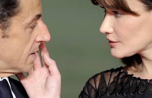 Карла Бруни с мужем Николя