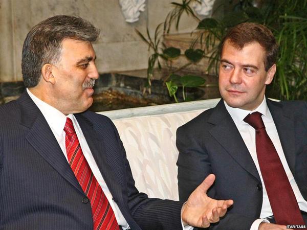 Абдулла Гюль и Дмитрий Медведев