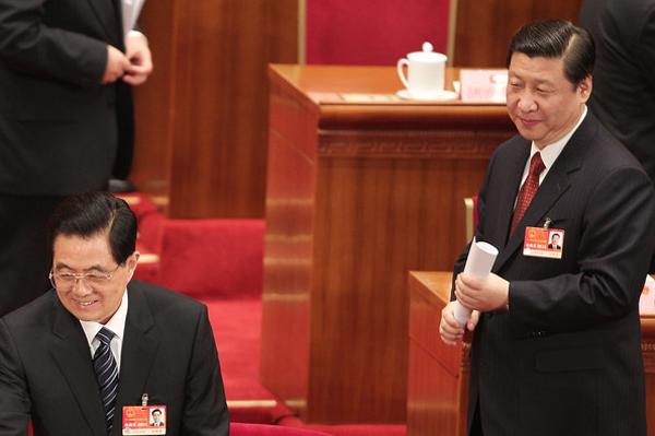 Китайский тандем. Председатель КНР Ху Цзиньтао (слева) и его преемник вице-председатель КНР Си Цзиньпин