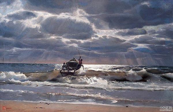 Дума за думой, волна за волной – два проявленья стихии одной. Картина китайского художника Yu Zengjie
