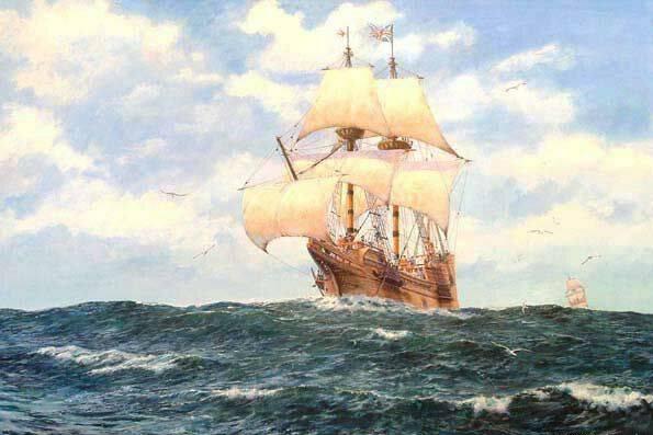 Пуританский ковчег барк Мейфлауэр