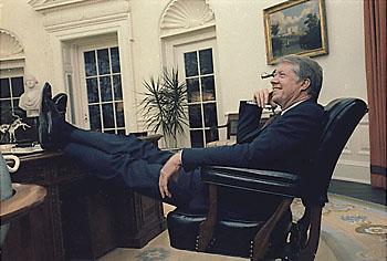 Джимми Картер в Овальном кабинете Белого дома