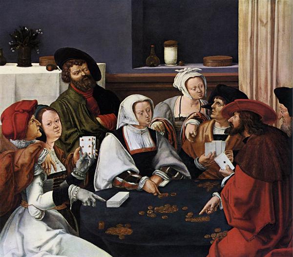 Лукас ван Лейден. Игра в карты