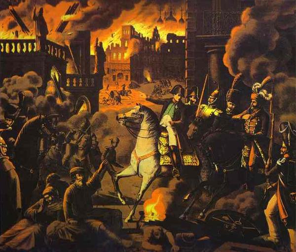 Неизвестный немецкий художник. 1812 год. Французы в Москве