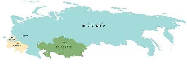 Рис. 5.2. Проект таможенного союза России, Беларуси, Казахстана и Украины