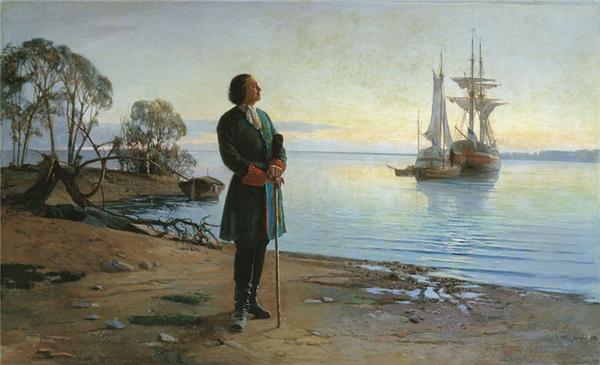 Николай Добровольский. Здесь будет город заложен. 1880