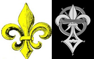 Флёр-де-лис, символ меровингов и логотип сионской общины Приорат Сиона