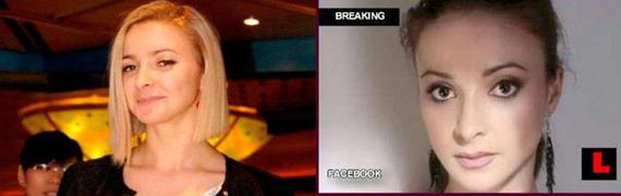 Молдаванка Домника Чемортан (с разной окраской волос)(согласно некоторым СМИ, сотрудница компании Costa Crociere)
