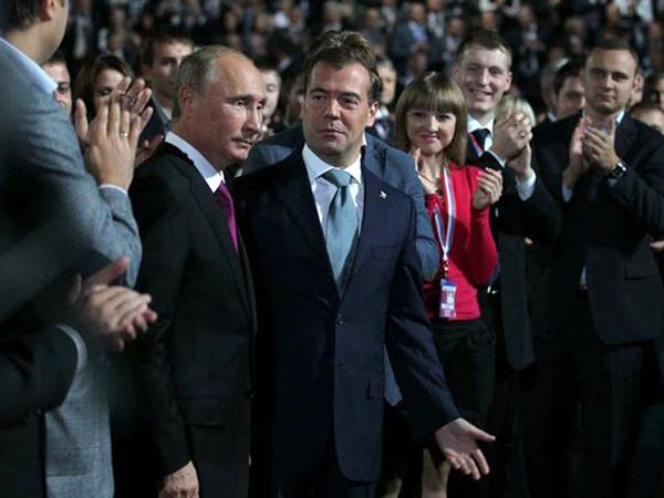 Выдвижение Путина на съезде Единой России