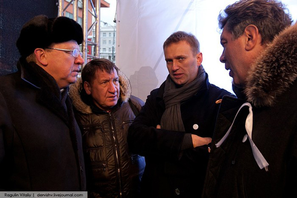 На трибуне митинга 24 декабря встретились Кудрин, Навальный и Немцов