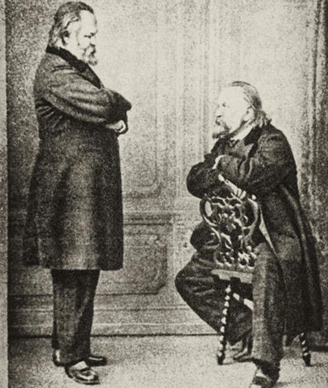 Герцен против Герцена (двойной портрет). Париж, 22 декабря 1865. Фотограф Сергей Левицкий