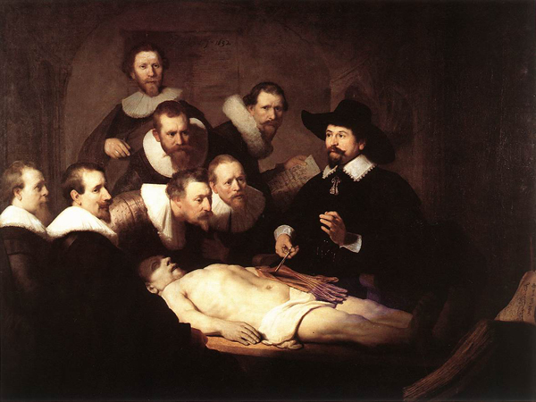 Рембрандт. Урок анатомии доктора Тульпа (Коллеги). 1632