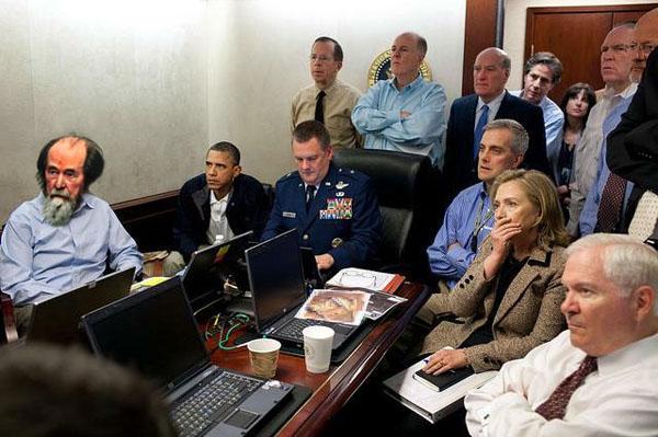 Убийство Бин Ладена. Коллаж неизвестного автора с просторов Интернета