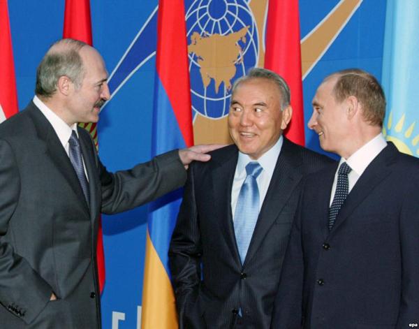 Лукашенко, Назарбаев, Путин