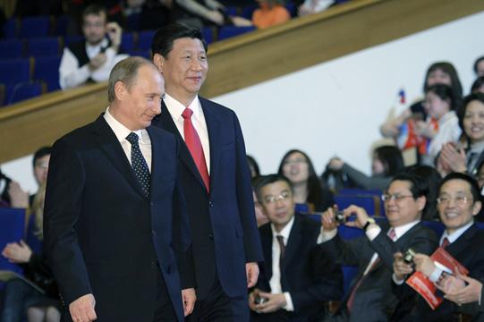 Путин и Си Цзиньпин. Церемония открытия Года китайского языка в России