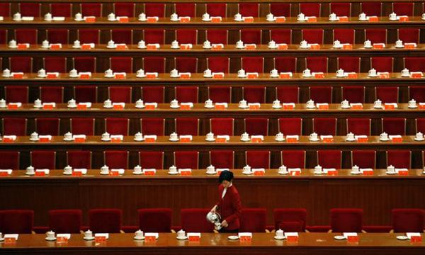Зал заседаний, где пройдет 18-й съезд КПК