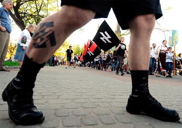 Марш украинских неонацистов