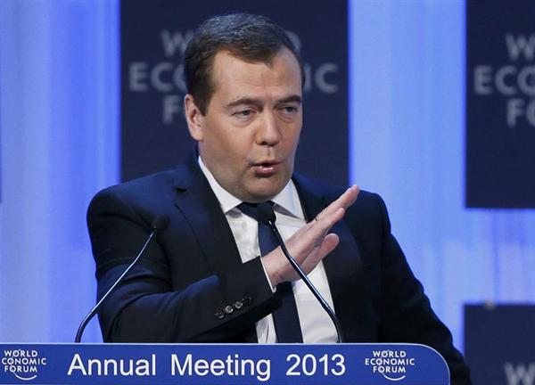 Дмирий Медведев в Давосе