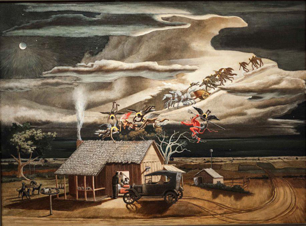Swing Low, Sweet Chariot, John McCrady,oil on canvas,1937