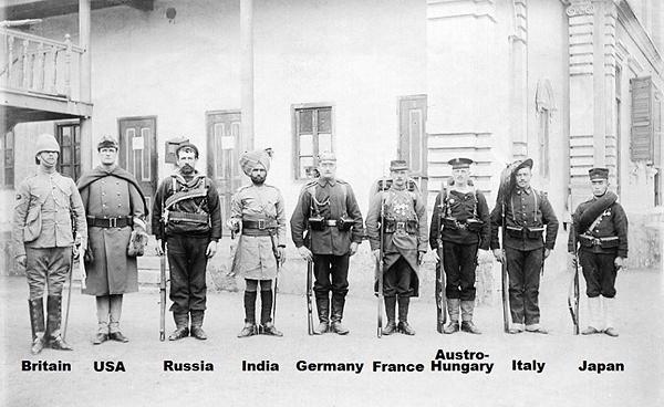 Солдаты армий вошедших в Пекин в 1900 году. Китайцы это хорошо помнят