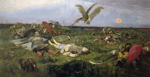 После побоища с половцами.  Виктор Васнецов