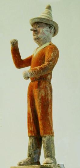 Иностранный коммерсант, керамиическая фигура эпохи Тан