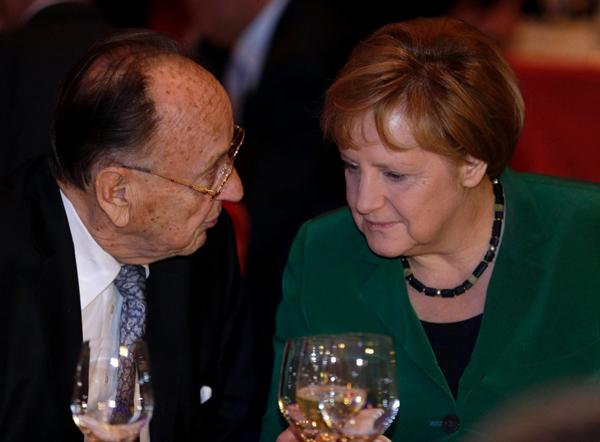 Ганс-Дитрих Геншер и Ангела Меркель