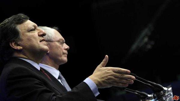 Жозе Мануэл Баррозу и Херман Ван Ромпей. Кем себя воображают эти люди? Какие рептилоиды за ними стоят?