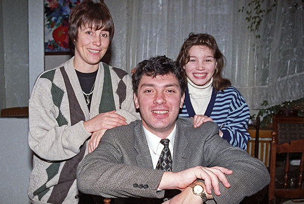 Борис Немцов с женой Раисой и дочерью Жанной