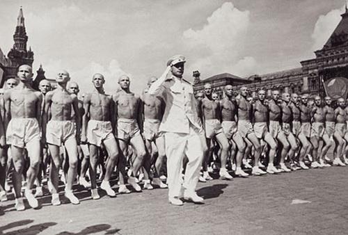 Военные физкультурники на Красной площади