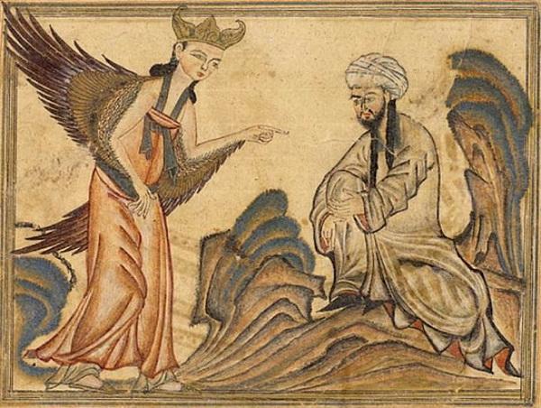 Пророк Мухаммед получает своё первое откровение от ангела Джабраила