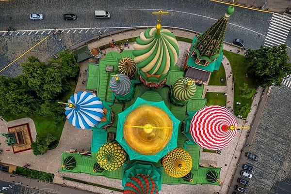 Собор Покрова (Василия Блаженного) сверху
