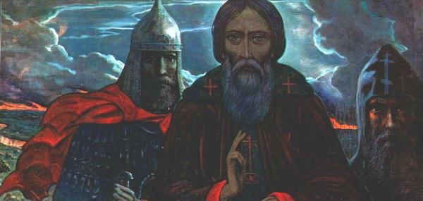 Илья Глазунов. Сергий и воины